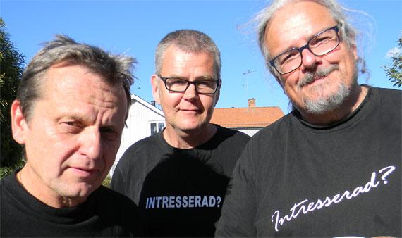 Killarna som arrangerar Garpedagen. Göran Jiderblom, Magnus Johansson och Ola Berg. - garpedagen2013.14